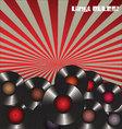 Vinyl rules retro background vector image