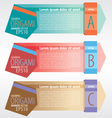 Abstract Origami banners EPS10 vector image