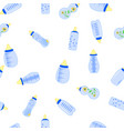 bottle baby seamless pattern for children boy vector image