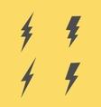 Lightning flat icons set vector image