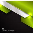 abstract green and silver metallic metal vector image vector image