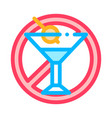 allergen free sign alcohol thin line icon vector image vector image