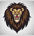 angry lion roaring logo mascot vector image vector image