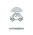 autonomous icon thin line style industry 40 vector image vector image