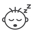 baby boy sleep line icon child and infant vector image vector image