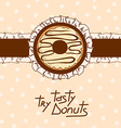 Background with tasty donut vector image