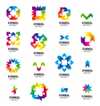 Big collection of logos abstract modules vector image vector image