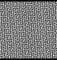 black and white classic meander seamless pattern vector image vector image