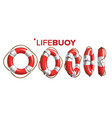 boat lifebuoy ring in different view set vector image vector image