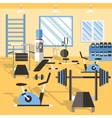 Bodybuilding Gym Poster vector image vector image