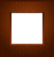 brick wall square frame vector image vector image