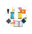 business and communication social media and vector image