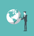 business man and world leader vector image