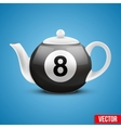 Ceramic Teapot In Billiard Pool Ball Style vector image vector image