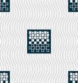 checkers board icon sign Seamless pattern with vector image