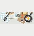 cooking consept different dishes and food vector image