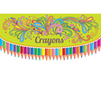 Crayons composition vector image