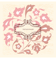 Elegance vintage card with place for text or messa vector image