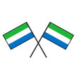 flag of sierra leone stylization of national vector image