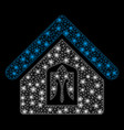 flare mesh network home with flare spots vector image vector image
