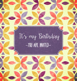 floral birthday party invitation vector image