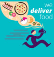 food delivery flat vector image