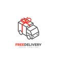 free delivery service logo vector image vector image