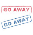 go away textile stamps vector image vector image