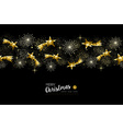 Gold Christmas and New Year stars decoration vector image