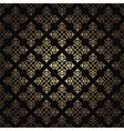 gold vintage pattern on black background vector image