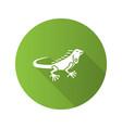 iguana flat design long shadow glyph icon vector image