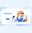 knowledge landing page template vector image