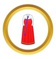 Korean traditional dress icon vector image vector image