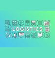logistics concept vector image vector image