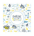 marine club banner template poster card vector image