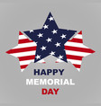 memorial day back with stars vector image