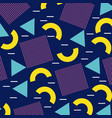 memphis geometric seamless pattern repeating vector image