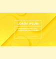 minimal yellow background abstract color fluid vector image vector image