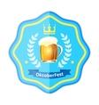 Oktoberfest beer badge vector image vector image