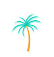 palm tree isolated on white background vector image