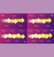 paper style timeline infographic concepts vector image