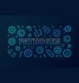 pathogen horizontal blue vector image