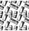 pattern with beverage can vector image