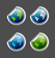 Planet Earth stickers vector image vector image
