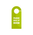 Please make up room tag icon flat style
