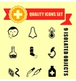 quality medical illness icons vector image