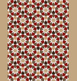 red moroccan motif tile pattern vector image vector image
