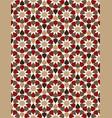 red moroccan motif tile pattern vector image