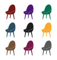 red oval chair icon in black style isolated on vector image vector image