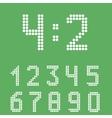 Scoreboard number set vector image